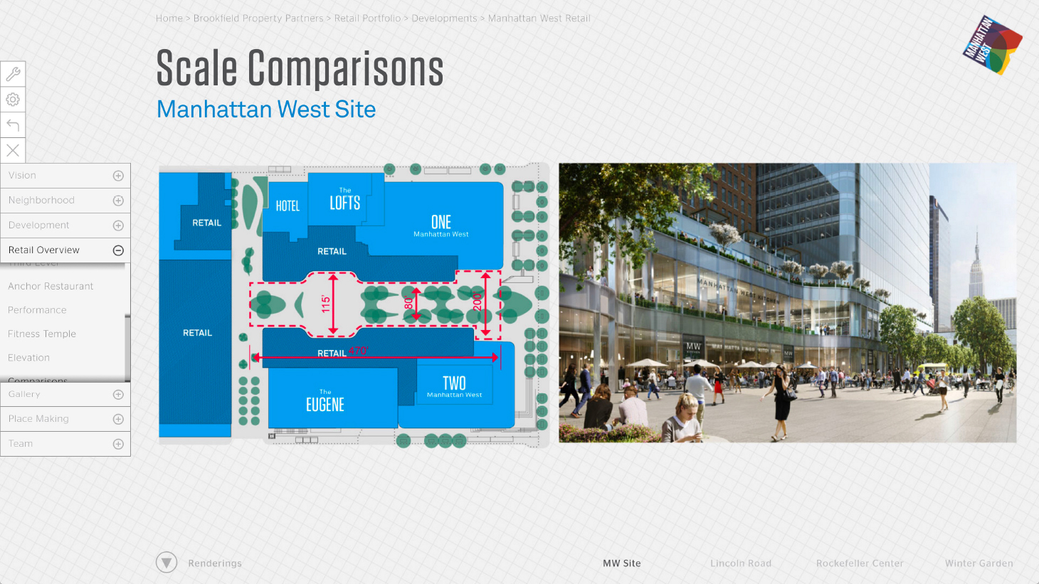 Manhattan West Retail Leasing App - Phase 2